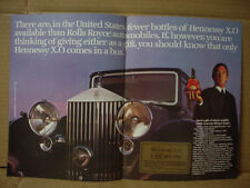 1985 Hennessy X.O Cognac fewer than Rolls Royce Cars Big Vintage Print Ad 161
