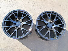 "20"" FACTORY STYLE DODGE CHARGER SRT HELLCAT 20x10 GLOSS BLACK TWO WHEELS RIMS"