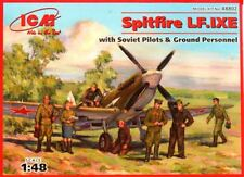 SPITFIRE LF Mk IX E WITH PILOTS & GROUND PERSONNEL (SOVIET AF MKGS) 1/48 ICM
