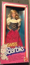 Swiss Barbie Doll of the World DOTW Switzerland NRFB Collector 1983 Blonde Dress