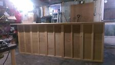 Custom Solid Wood Home Bar, Hand Made, 120x24x42, S&H Free