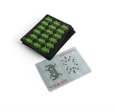 Kikkerland SPACE INVADERS Waterproof Poker Size Playing Cards GG07 travel pools