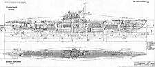U-BOAT TYPE VIIC GERMAN SUBMARINE DETAILED PLAN  KRIEGSMARINE UNTERSEEBOOT 1938