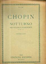 SC7 SPARTITO Chopin notturno Op. 32 n. 1 - violino -pianoforte Ricordi 1931