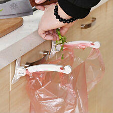 Kitchen Cabinet Door Back Stand Trash Storage Garbage Bags Hook Rack