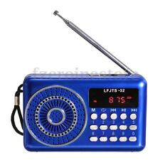 Mini Portable LCD Digital FM Radio Speaker USB Micro TF Card Mp3 Music Player