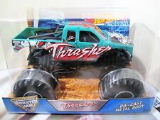 Hot Wheels Monster Jam Truck 1:24 Scale Die-Cast Metal Body Thrasher