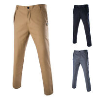 Korean Style Men's Casual Trousers Fashion 3 Color Slim Fit Comfort Suits Pants