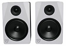 "Rockville APM8W 8"" 2-Way 500W Active/Powered USB Studio Monitor Speakers Pair"