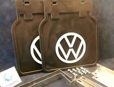 VW BUG MUD FLAPS BLACK WITH  BRACKETS (PAIR) 1950-ON FITS ALL BUGS 111821805BLK