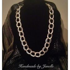 Silver Large Link Chain Handmade