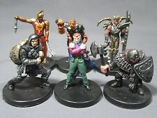 Dungeons & Dragons Miniatures Lot  Balanced Wicked Character Party !!  s85
