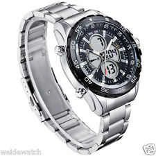 Imported Genuine Weide WH-1103 BLACK POINTERS quartz digital dual time Men Watch