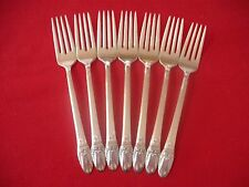 (7) 1847 Rogers Silverplate Dinner Forks, 1937 First Love   #Y-