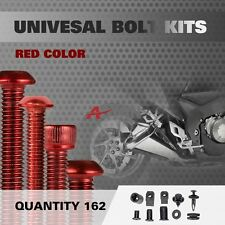 Red 162Pcs Fairings Bolt Kit Fastener Nuts Screws for APRILIA RS125 RS250
