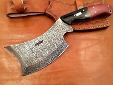 Handmade-Bush Craft Damascus Steel Camping-Outdoor Axe- Free Sheath- DH200