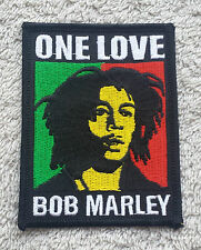 BOB MARLEY PATCH Cloth Badge/Emblem/Insignia Biker Jacket Bag Rasta One Love