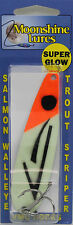 "MOONSHINE LURES GLOW IN THE DARK STANDARD 4"" TROLLING SPOON - ORANGE FLOUNDER"