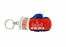 Keychain Mini boxing gloves key chain ring flag key ring cute CAMBODIA CAMBODIAN