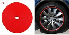 Red FITS VEHICLE WHEEL RIMS PROTECTOR TIRE GUARD LINE RUBBER MOULDING TRIM STRIP