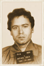 Framed Print - Ted Bundy Serial Killer Vintage Effect (Murder Picture Poster Art