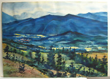 Joseph Santoro New England Mountains WC Listed Rockport Gloucester Artist