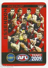 2009 Teamcoach CHECK LIST Essendon
