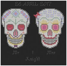 CANDY TESCHI WEDDING campionatore CROSS STITCH PATTERN by florashell