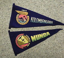 "WW2 Pacific Theater Pennants : ""NEW GEORGIA MUNDA"" & KOLOMBANGARA"""
