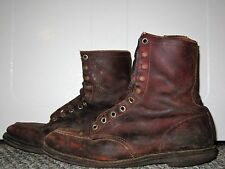 MENS VTG 60s RED WING BROWN LEATHER MOC TOE IRISH SETTER HUNTING WORK BOOTS 9 EE