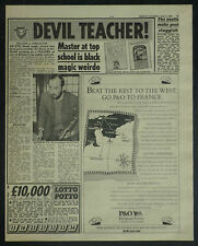 Gerald Suster Boarzell Tutorial College 1989 1 Page Newspaper Article 7248
