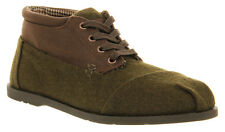 New TOMS Botas Chocolate Olive Wool Ridge Canvas Boots Mens Size 11.5