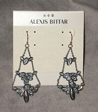 NWT Alexis Bittar Crystal Encrusted Chain Drop Dangle Earrings