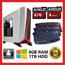 AMD A8 QUAD CORE 7650K 3.8GHz 8GB | 1TB | R7 Radeon Gaming Computer Desktop PC