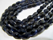 "AAA Quality Natural Iolite Oval Faceted Beads, Strand approx 13""long, Size 6x8mm"