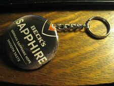 Beck's Sapphire German Beer Advertisement Keychain Backpack Purse Clip Ornament
