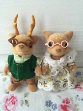 Discontinued RARE Sylvanian Families Moss Reindeer Family Grandparents Xmas