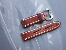 AMMO Hand Made Genuine Leather Strap 24/24mm 125/75 Screw-In Pre-V Panerai PAM