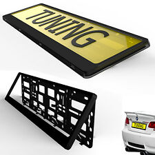 Black Number Plate Surround Holder fits FORD FIAT CITROEN SKODA ANY EUROPEAN CAR