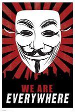 V De Vendetta estamos en todas partes 91,5 X 61 Cm Poster Oficial Nueva mercancía