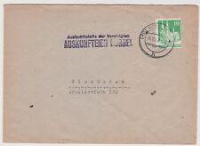 Bizone/Bauten, Mi. 80,wg, EF, Ortsbrief Wiesbaden, HST