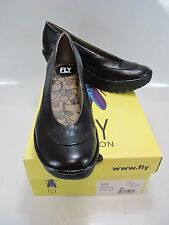 FLY LONDON Womens YOKO Black Leather Platform Wedge EU 40; US 9-9.5 (P500335043)