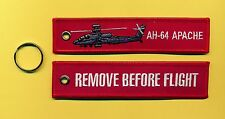 AH-64 Apache Remove Before Flight embroidered tag - New