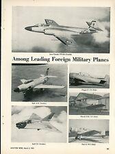 1953 Aviation Article Military Planes Avro Canada CF100 Saab Piaggio Macchi Fiat