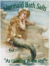 Mermaid Bath Salts, Seaside, Holiday, Bathroom & Showeroom Novelty Fridge Magnet