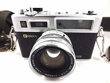 G Yashica Electro 35 GS Camera with Color-Yashinon DX 45mm f/1.7 Lens & Case