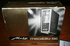 METZ MECABLITZ 196 TELECOMPUTER ELECTRONIC FLASH KIT MADE IN GERMANY IN BOX