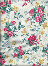 7 yds FABRIC *SPRINGS INDUSTRIES FLORAL ROSES *HEAVY COTTON *CURTAINS UPHOLSTERY
