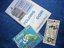 Coin In The Bottle Gimmick & Folding Coin Booklet Magic City Trick