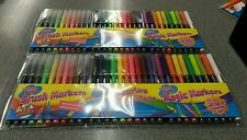 NEW 2 x  30 PCS ARTBOX FELT TIP FIBRE/ BRUSH/MAGIC SKETCH COLORING PENS